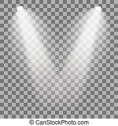 Stage illuminated spotlight - Set of stage illuminated...