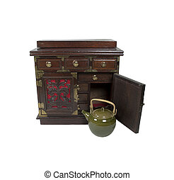 Tea Chest and Pot
