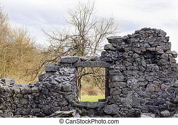 rovine, vecchio, segheria