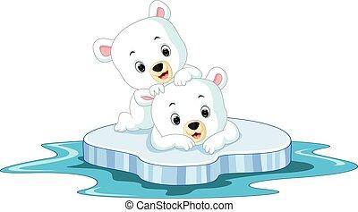 Polar bear cartoon - illustration of Polar bear cartoon