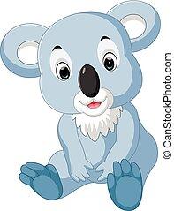 Cute koala cartoon - illustration of Cute koala cartoon