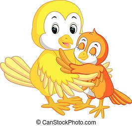 Cute bird cartoon - illustration of Cute bird cartoon