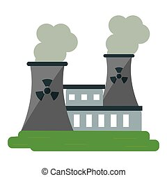 nuclear power station energy pollution