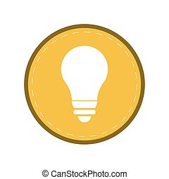 bulb light energy electricity icon yellow circle
