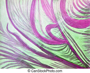 Healing waves in purple, green, and white
