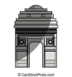 triumph arch france icon vector illustration design