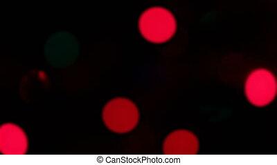 Defocused Christmas lights - Defocused blinking Christmas...