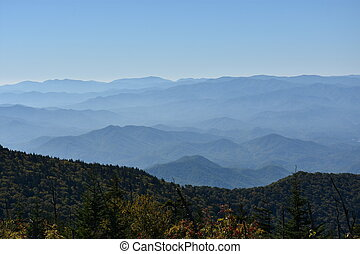 View from Clingmans Dome in the Great Smoky Mountains...