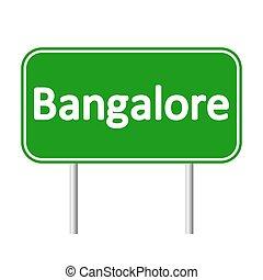 Bangalore road sign. - Bangalore road sign isolated on white...