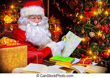 world map xmas - Christmas, mail of Santa Claus. Santa Claus...