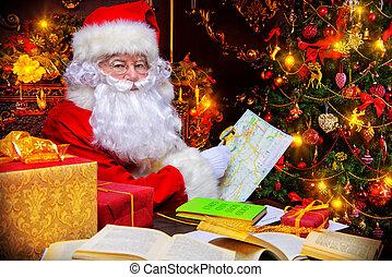 world map xmas - Christmas, mail of Santa Claus. Santa Claus...