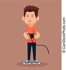 player video game holding control
