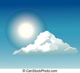 blue sky cloud sun light shine - blue sky clouds sun light...
