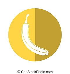 banana appetizing fruit nature yellow circle shadow