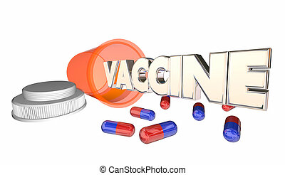 Vaccine Antidote Pills Cure Capsules Medicine Bottle 3d...