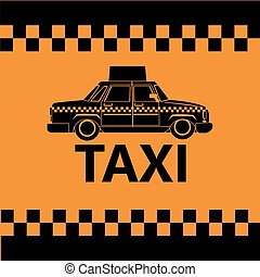 taxi car side view banner design