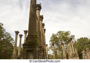 Architecture of Windsor Ruins - Details of architecture in...