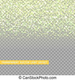 light effect green texture glowing rain of confetti.