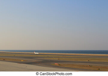 Nagoya,Chubu Centrair International Airport runway -...