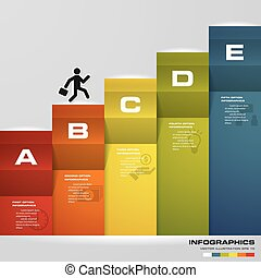 Abstract 5 steps business presentation template. 5 steps...