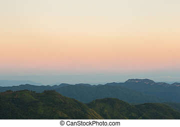 Khao Kho Mountain at sunset, Phetchabun Province, Thailand