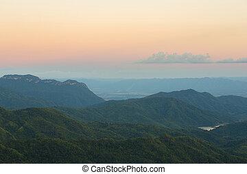 Khao Kho Mountain at sunset, Phetchabun Province, Thailand