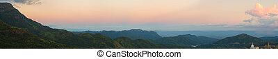 Khao Kho Mountain at sunset, Phetchabun Province, Thailand...
