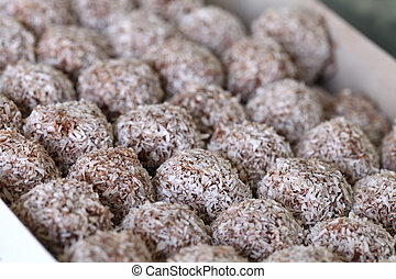 Rum balls - Traditional Czech unbaked Christmas and wedding...