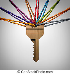 Community Key or network password concept as a group of...