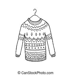 Christmas vector sweater - Christmas ugly vector sweater