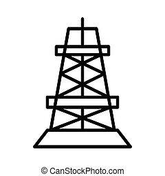 drilling rig illustration design