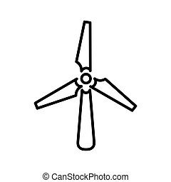 wind turbine illustration design