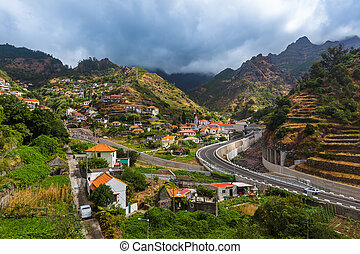 Mountain village Serra de Aqua - Madeira Portugal - Mountain...