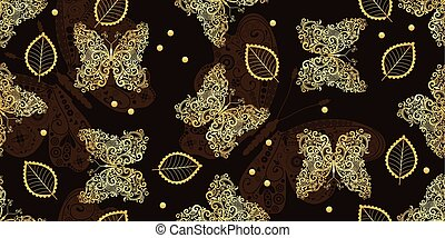 Dark brown seamless vintage pattern