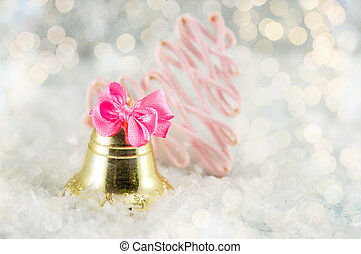 Christmas bell decoration with festive lights - Christmas...