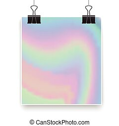 holographic background on clothespins for design, hipster backgrounds