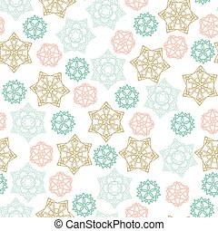 Christmas winter Seamless Pattern with color Snowflakes