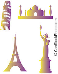 collection of famous monuments around the world