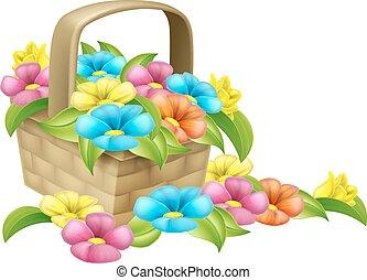 Basket of Flowers Design