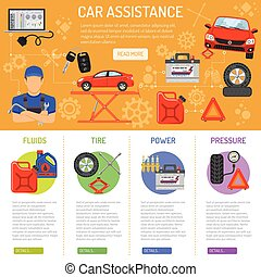 Car Service Infographics - Car Service and assistance...