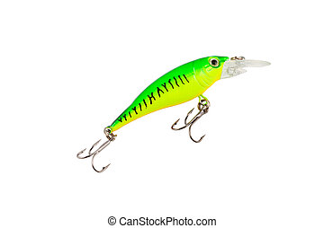 fishing tackle (spinning) isolated on a white background