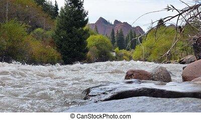 Jeti-Oguz (Seven Bulls Rocks). Issyk Kul, Kyrgyzstan....