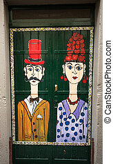 The art of open door in the street of Santa Maria. A project...
