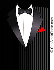 Vector elegant business suit - Vector illustration of...