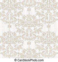 Vintage Baroque delicate pattern - Vintage Baroque damask...