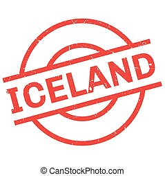 Iceland rubber stamp. Grunge design with dust scratches....