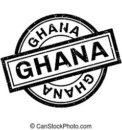 Ghana rubber stamp. Grunge design with dust scratches....
