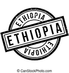 Ethiopia rubber stamp. Grunge design with dust scratches....