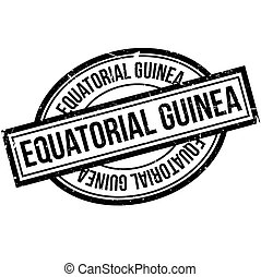 Equatorial Guinea rubber stamp. Grunge design with dust...