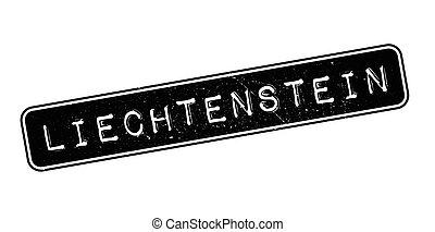 Liechtenstein rubber stamp. Grunge design with dust...